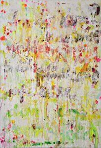 Evelyn Garden | PAINTED POEMS 1 | 2014 | Malerei Mischtechnik auf Leinwand | 155 x 105 cm | Galerie Moench Berlin