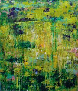 Evelyn Garden | DSCHUNGELNACHT 2 | 2012 | Malerei Mischtechnik auf Leinwand | 140 x 120 cm | Galerie Moench Berlin