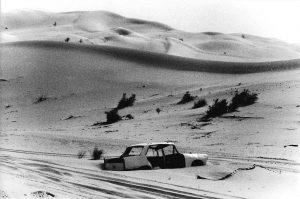 Walther Grunwald | ohne Titel (Sahara 89_6_5) | 1989 | Schwarzweissfotografie auf Barytpapier | 18 x 24 cm | Galerie Moench Berlin