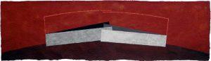 Gerhard Walter Feuchter | UEBERBRUECKUNG | 2007 | Acryl auf Papierguss | 26 x 75 cm | Galerie Moench Berlin