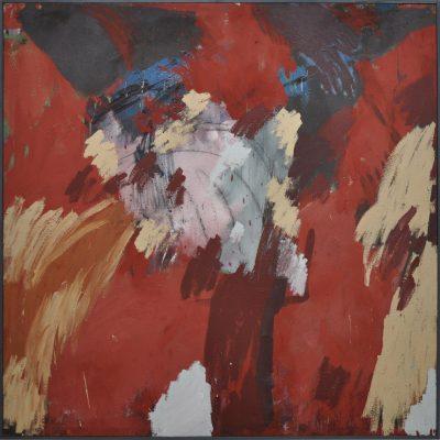 Reinhard Dickel | ohne Titel | 1984 | Oel und Leimfarbe auf Leinwand | Galerie Moench Berlin