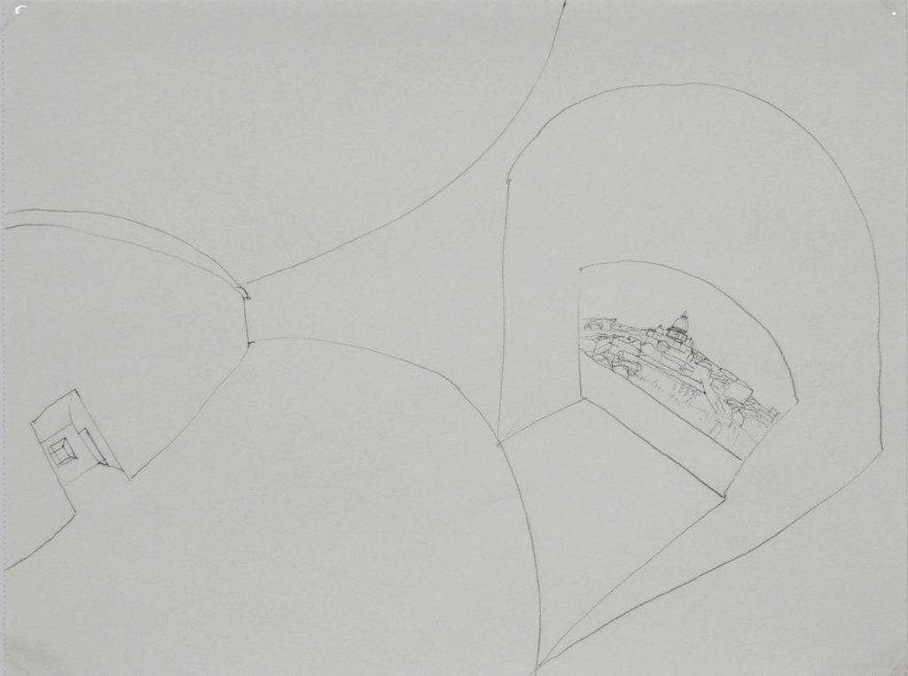 Barbara Camilla Tucholski | ROM, KOLOSSEUM | 2004 | B2 Bleistift auf Papier | 24 x 32 cm | Galerie Moench Berlin