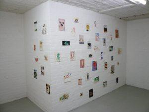Thomas Muellenbach | aus der Serie Halb-Original | 2006-2013 | Aquarell auf Papier | Ausstellungsansicht