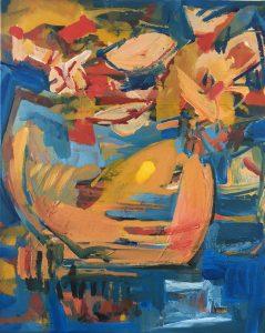 Max Hari | Blumen | 2017 | Acryl auf Baumwolle | 50 x 40 cm | zeitgenoessische Malerei | Galerie Moench Berlin